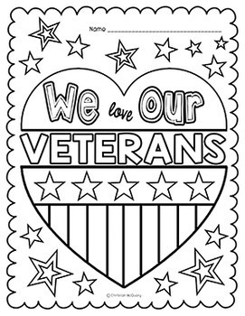 Veterans Day Coloring Pages by Pre-K Tweets | Teachers Pay ...
