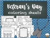 Veteran's Day Coloring Sheets