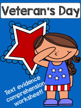 Veteran's Day leveled Comprehension paper!