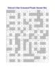Veteran's Day Crossword Puzzle