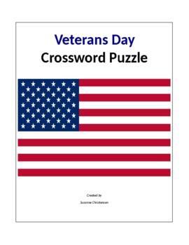 Veteran's Day Crossword Puzzle