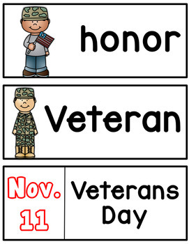 Veteran's Day Emergent Reader!
