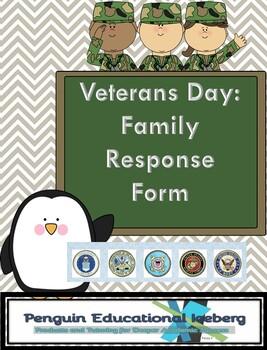 Veteran's Day: Family Response Form
