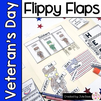 Veteran's Day Flippy Flaps Interactive Notebook Lapbook