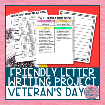 Veteran's Day Friendly Letter Writing Project