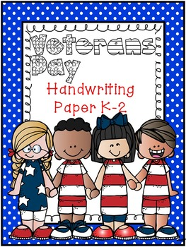 Veteran's Day Handwriting Paper