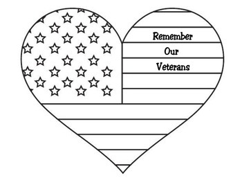 Veteran's Day Heart Craft