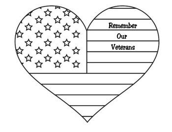 Veteran's Day Heart Craft