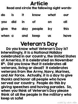 FREEBIE:  Veteran's Day Homework
