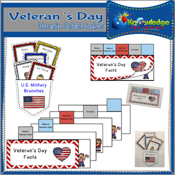 Veteran's Day Interactive Foldable Booklets - EBOOK