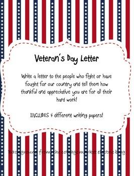 Veteran's Day Letter