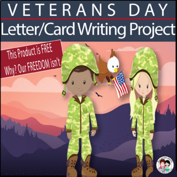 FREE Veterans Day Letter and Card Writing Activity