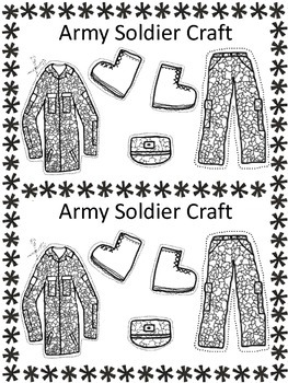 Veteran's Day, Literacy Writing Craft, Our Army Soldiers FREEBIE!!!