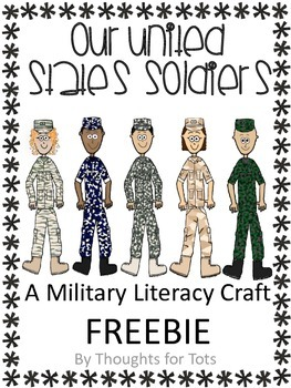 Veteran's Day, Literacy Writing Craft, Our Army Soldiers F