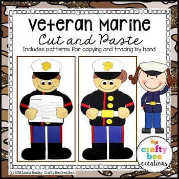 Veteran's Day Marine Cut and Paste