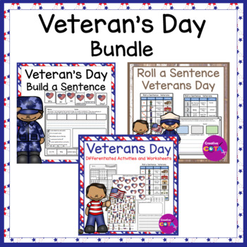 Veteran's Day Math and Literacy Bundle
