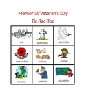 Veteran's Day/Memorial Day; Remembrance Day Tic-Tac-Toe