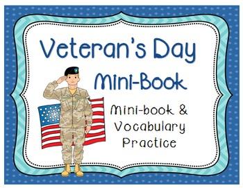 Veteran's Day Mini Book & Vocabulary Practice