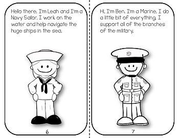 Veteran's Day Mini Reader & Activity Booklet