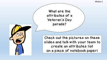 Veteran's Day Missions