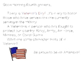 Veteran's Day Morning Greeting