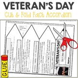 Veteran's Day Nonfiction Facts Foldable Accordion