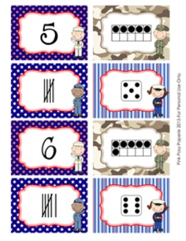 Veterans Day Number Match Activity