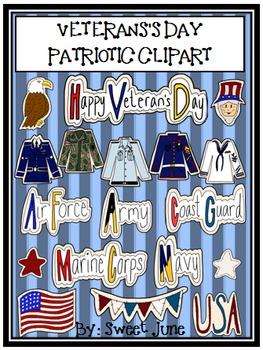 Veteran's Day Patriotic Clipart