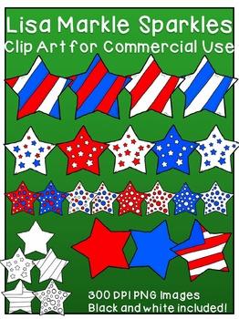 Veteran's Day Patriotic Stars Clip Art