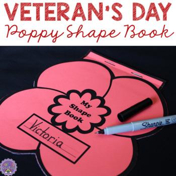 Poppy Shape Book | Veteran's Day