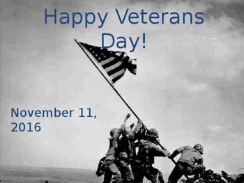 Veteran's Day Powerpoint Presentation