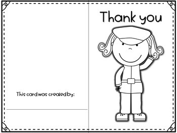 Veteran's Day- Printable Color and Write Cards