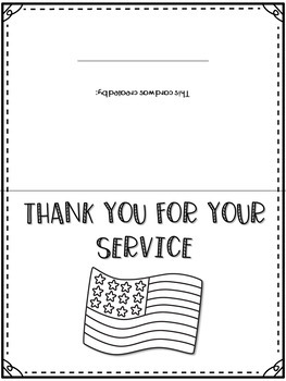 Veteran S Day Cards Thank You Cards Veteran S Day Writing By