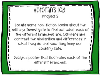 Veteran's Day Project-Based Learning & Enrichment for Literacy, Math & STEM