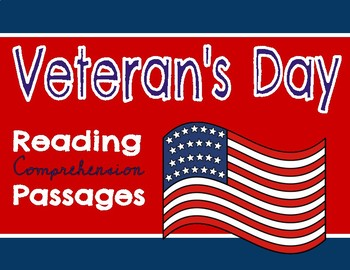 Veteran's Day Reading Passage and Comprehension Questions