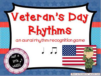 Veteran's Day Rhythms -- An Aural Rhythm Recognition Game {ta titi}