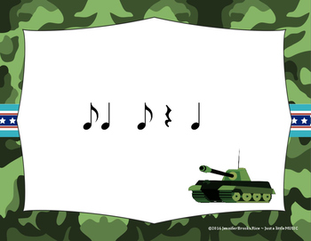Veteran's Day Rhythms - Interactive Reading Practice Game {synco-pa}