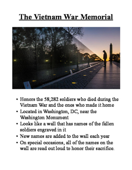 Veteran's Day Scavenger Hunt