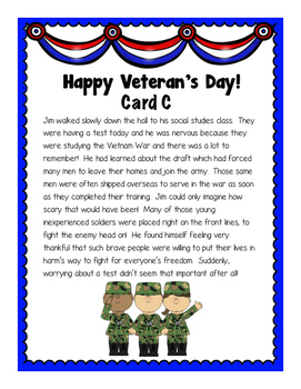 Veterans Day Scoot: 1st and 2nd Hand Account Review game (3rd-4th-5th grades)
