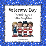 (Freebie) Veteran's Day Thank You Letter Templates