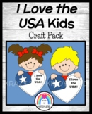 I Love the USA Kids Craft (US Symbols, Veteran's Day, Election, Vote)