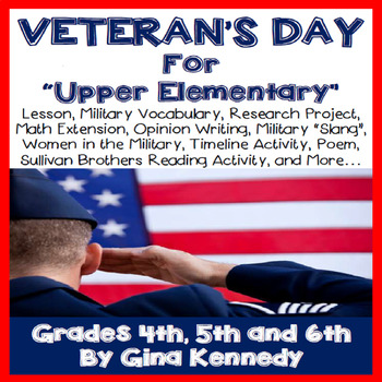 Veteran's Day Unit for Upper Elementary Students!