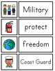 Veteran's Day Vocabulary Cards and Worksheets