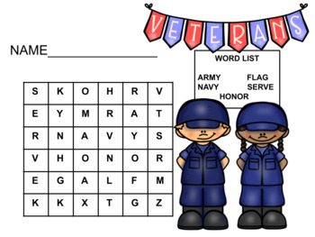 Veteran's Day Word Search 4
