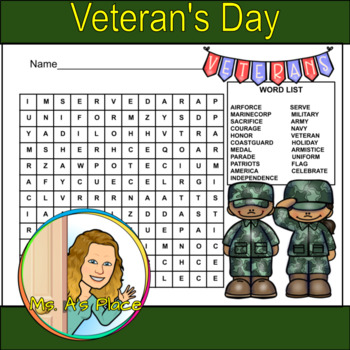 Veteran's Day Word Search