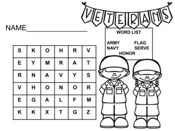 Veteran's Day Word Search Bundle