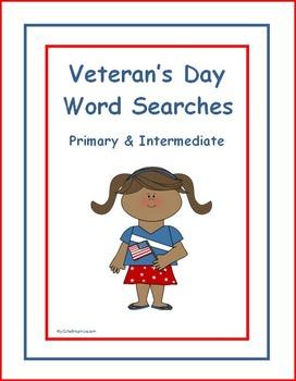 Veteran's Day Word Searches - Primary & Intermediate