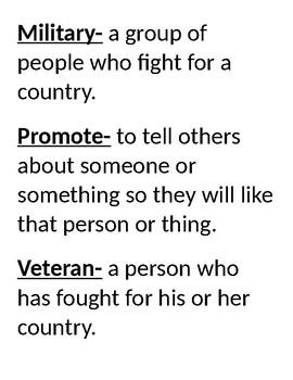 Veteran's Day Words