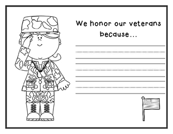 Veteran's Day Writing Activity