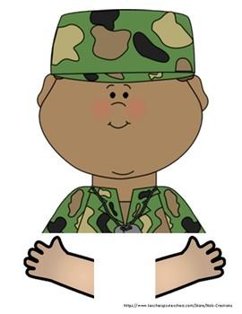 Veteran's Day Writing Craft Activity- No Prep!